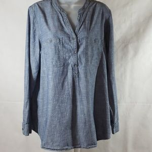 J. Jill Denim Tunic Top